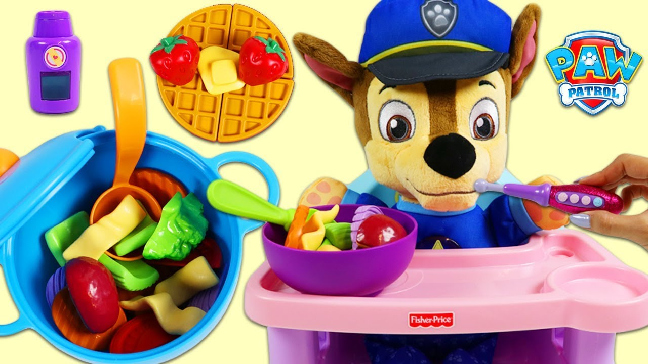 Download Feeding Baby Chase Pretend Homemade Soup and Waffles!