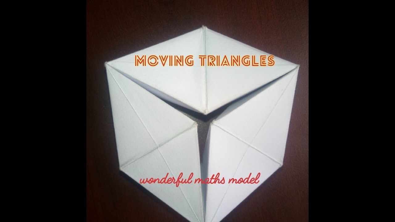 MOVING TRIANGLES | maths working model easy to make - YouTube