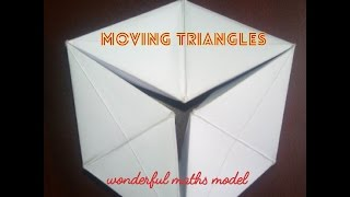 MOVING TRIANGLES | maths working model easy to make