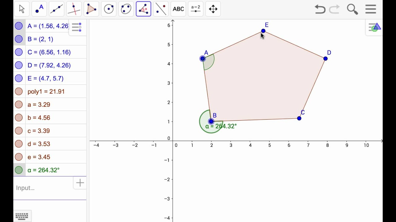 Create a Polygon with Geogebra from Google Drive