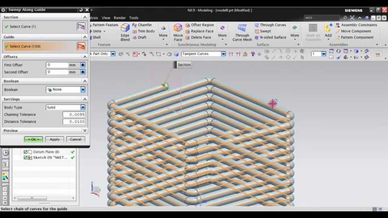 Freeform surface modelling