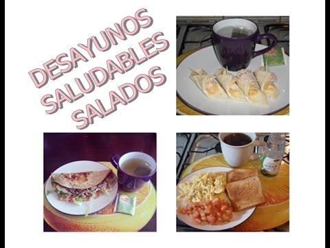 Desayunos Saludables Salados ¡ - YouTube