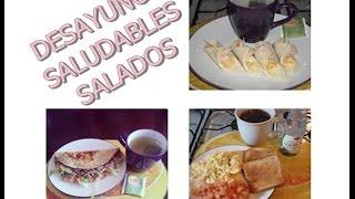 Desayunos Saludables Salados ¡
