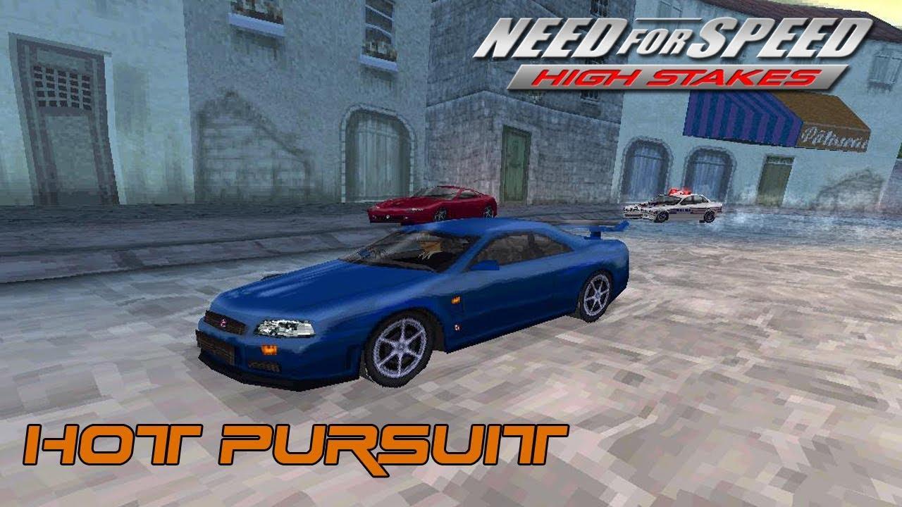 NFS High Stakes (PSX) - Nissan Skyline GT-R R34 vs. Ferrari 550 Maranello  Hot Pursuit Duel - YouTube