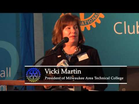 Milwaukee Rotary Club: Vicki Martin - President of Milwaukee Area Technical College