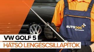 VW GOLF 5 Hátsó lengéscsillapítók csere [ÚTMUTATÓ]