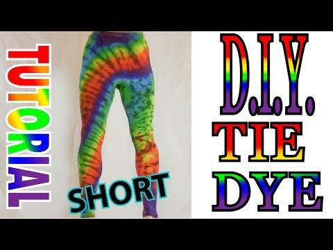 Tie Dye Yoga Pants DIY [Short Tutorial]