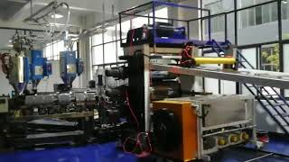 PC three lines sheet extruder machine for Suitcase luggage production