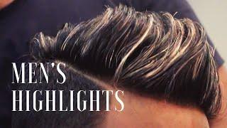 "MEN'S HIGHLIGHTS | BLONDE HIGHLIGHTS WITH LIGHT VIOLET ASH COLOUR | MEN""S SUMMER HIGHLIGHTS"