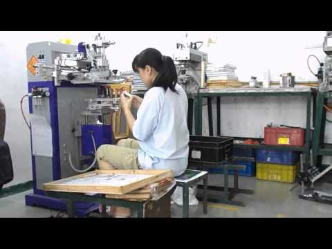 Silk screen printing @ QCS Asia aluminium anodized factory