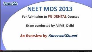 NEET Dental PG Exam 2013