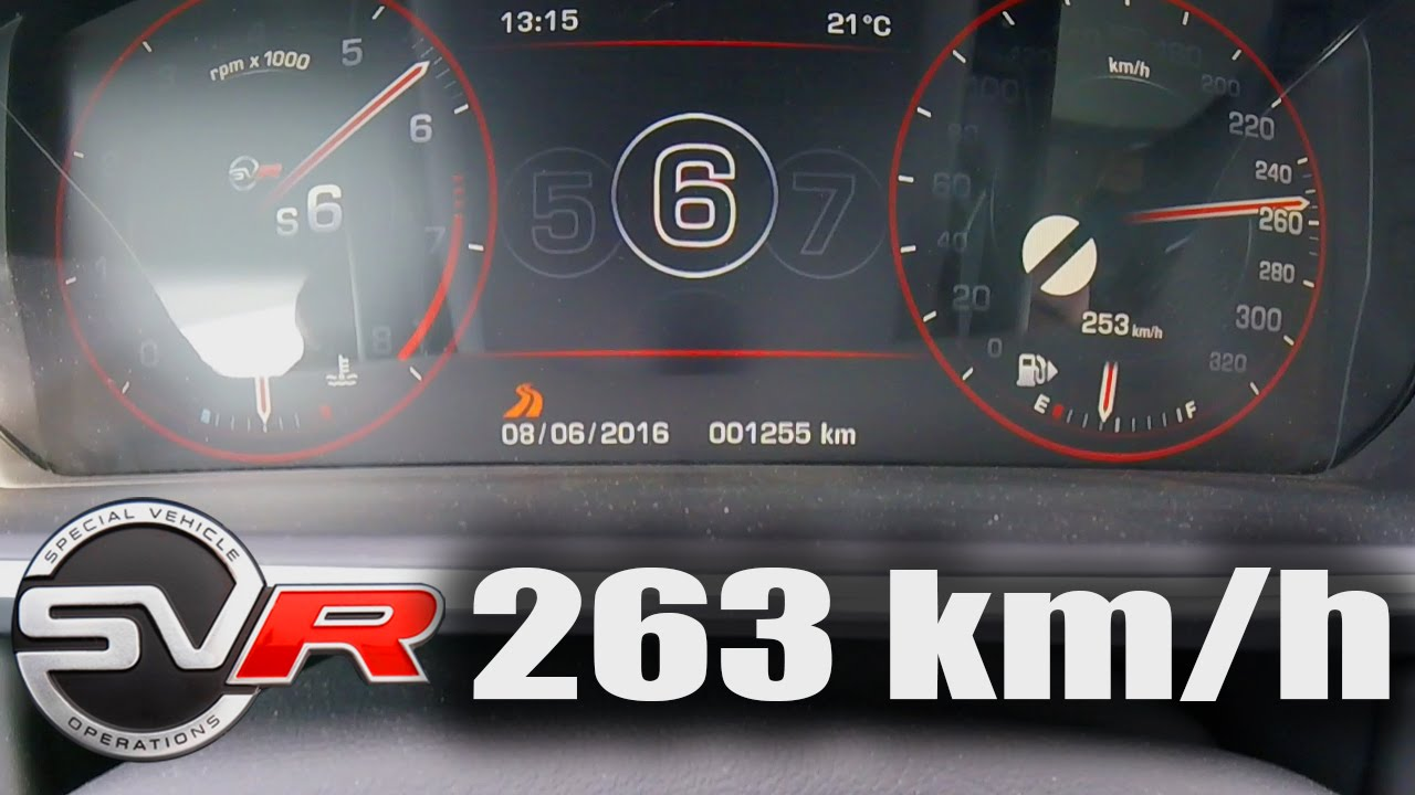 Range Rover Sport SVR Supercharged Acceleration TOP SPEED 0-263 km/h ...