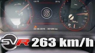 Range Rover Sport SVR Supercharged Acceleration TOP SPEED 0-263 km/h Autobahn Test Drive & Sound