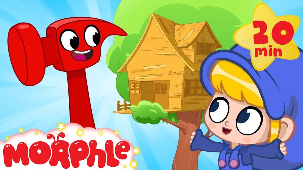 Morphle S Treehouse Building With Mila And Morphle Youtube From dinosaurs to cars, construction vehicles like diggers, dump trucks and cranes to pets like cats dogs and lions! morphle s treehouse building with mila and morphle