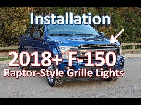 Starkey 2018-2019 Ford F-150 Raptor-Style Grille Light Kit Installation - Fits XL, XLT & Lariat