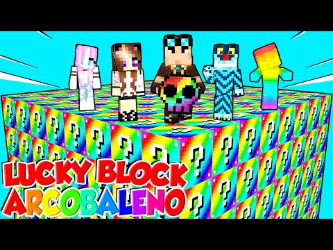 LUCKY BLOCK GIGANTI ARCOBALENO SU MINECRAFT!!! - WhenGamersFail ► Lyon