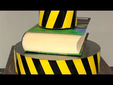EXPERIMENT HYDRAULIC PRESS 100 TON Vs BOOK