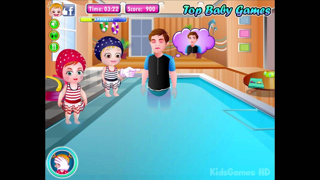 Baby Hazel Game movie - Baby Swimming Time - Dora The Explorer