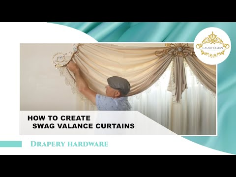 How To Create Swag Valance Curtains #222