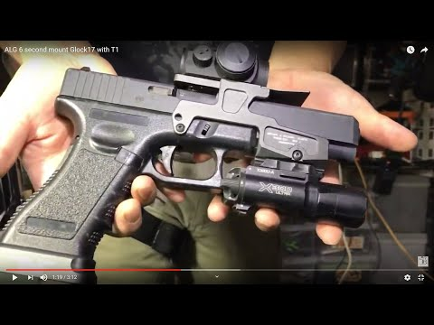 ALG 6 Seconds mount Glock 17 with T1 Kydex Holster [ Airsoft ]