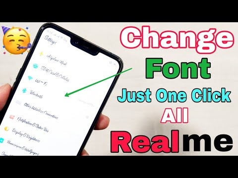 Just One Click, How To Change Font Style In Realme 2 Or Any Realme Devices | Change Font In Realme 2