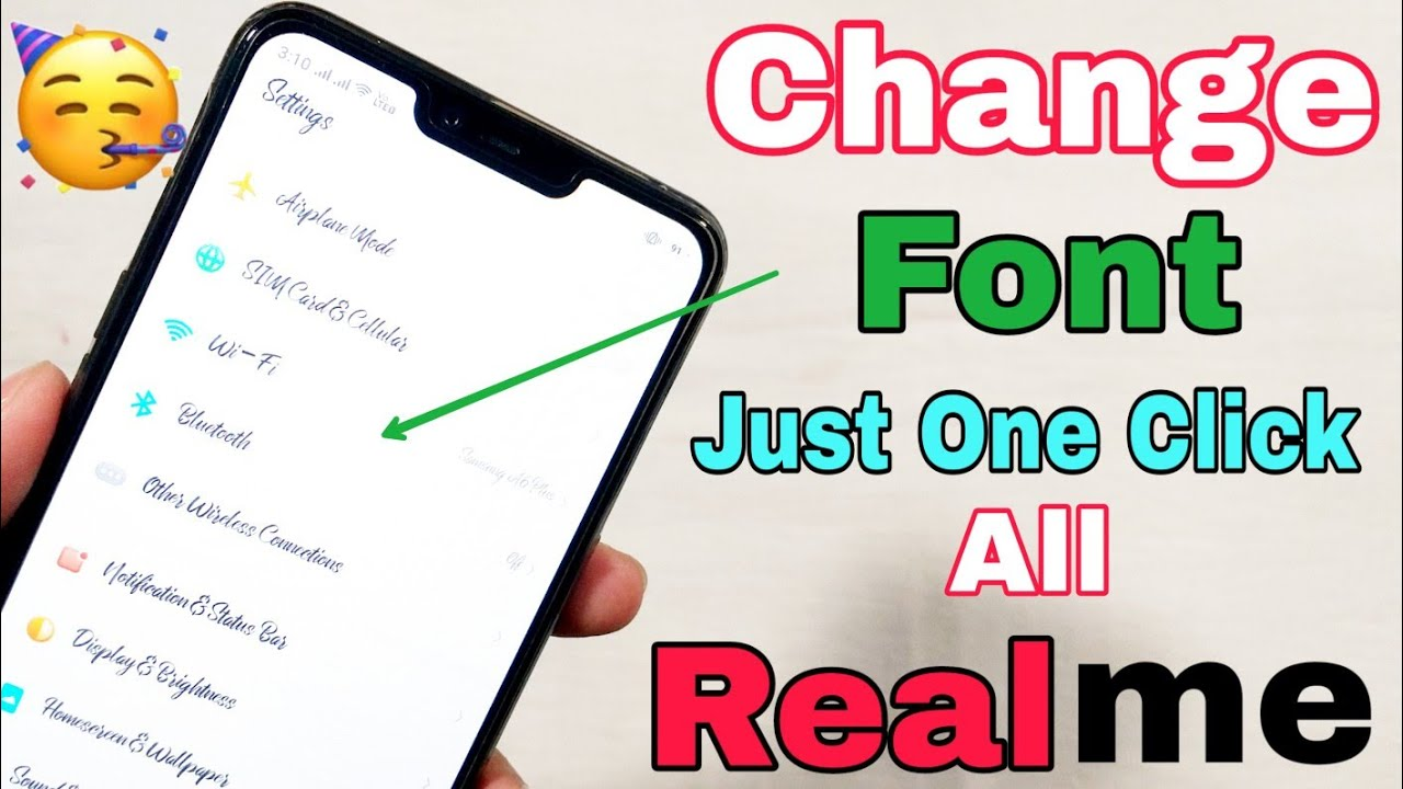 Just One Click, How to change Font Style in Realme 2 or any Realme devices    Change font in Realme 2