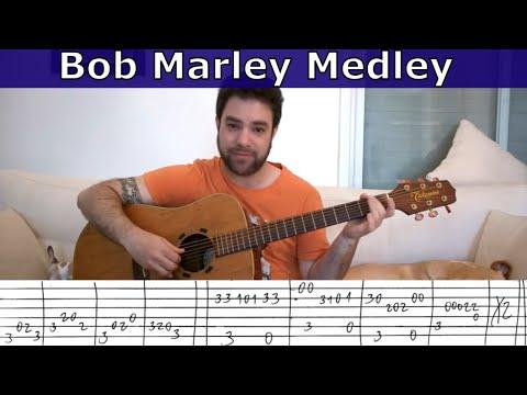 Fingerstyle Tutorial: Bob Marley Medley - Guitar Lesson w/ TAB