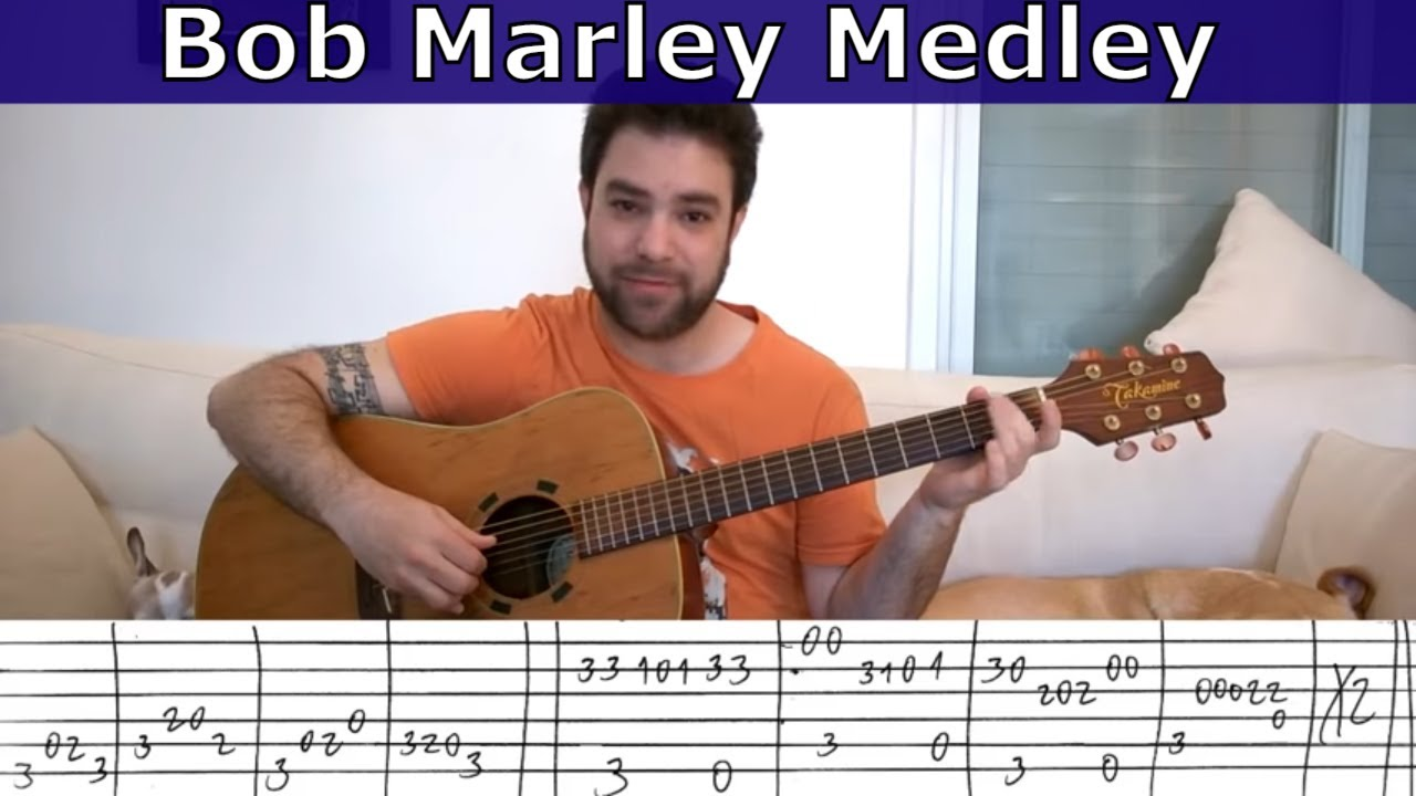 Fingerstyle Tutorial Bob Marley Medley Guitar Lesson W Tab Youtube