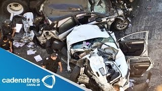 Carambola vehicular deja 13 heridos en la México-Querétaro