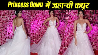 Jhanvi Kapoor looks like a Princess in White Gown at Lux Golden Rose Awards | Boldsky