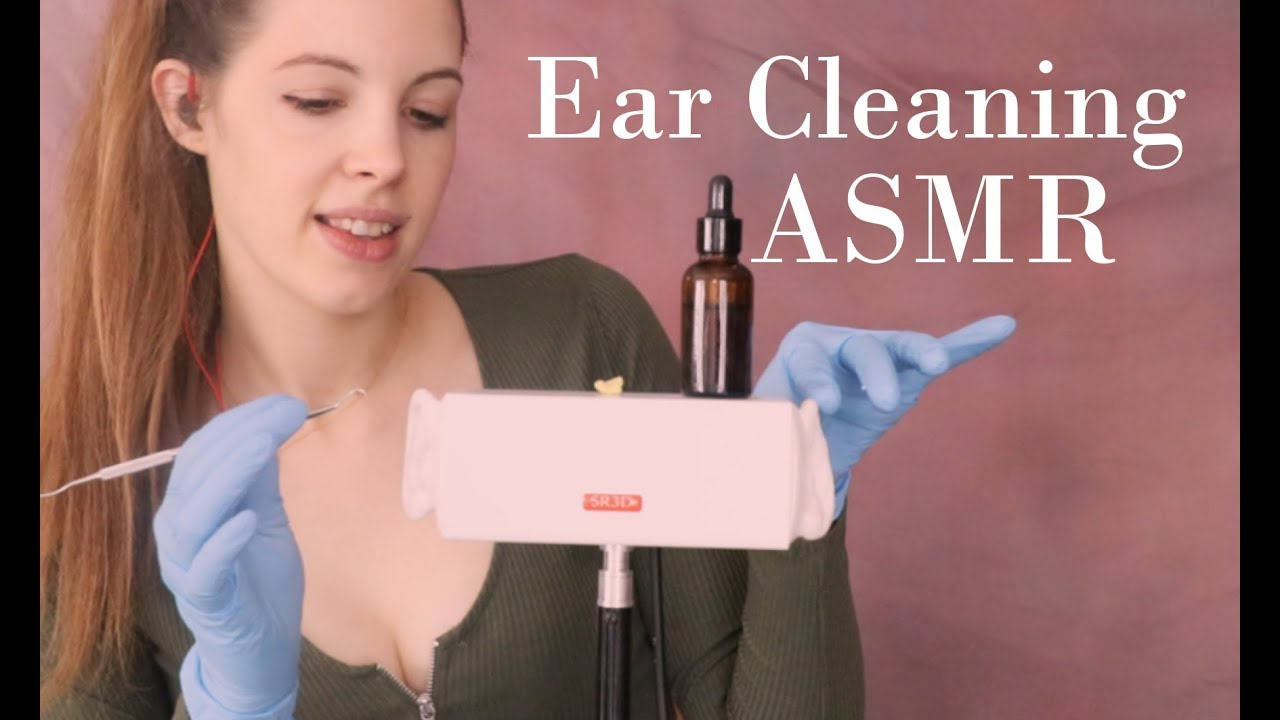 ASMR Ear Cleaning To Cure Tingle Immunity - Latex Gloves, Ear Picking...