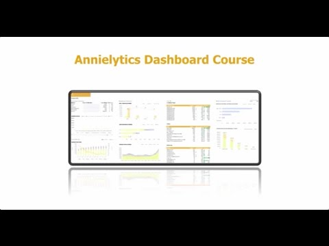 Annielytics Dashboard Course for Marketers Overview