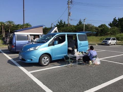 Nissan e-NV200: Trial Camping Trip To The Coast Of Chiba Prefecture