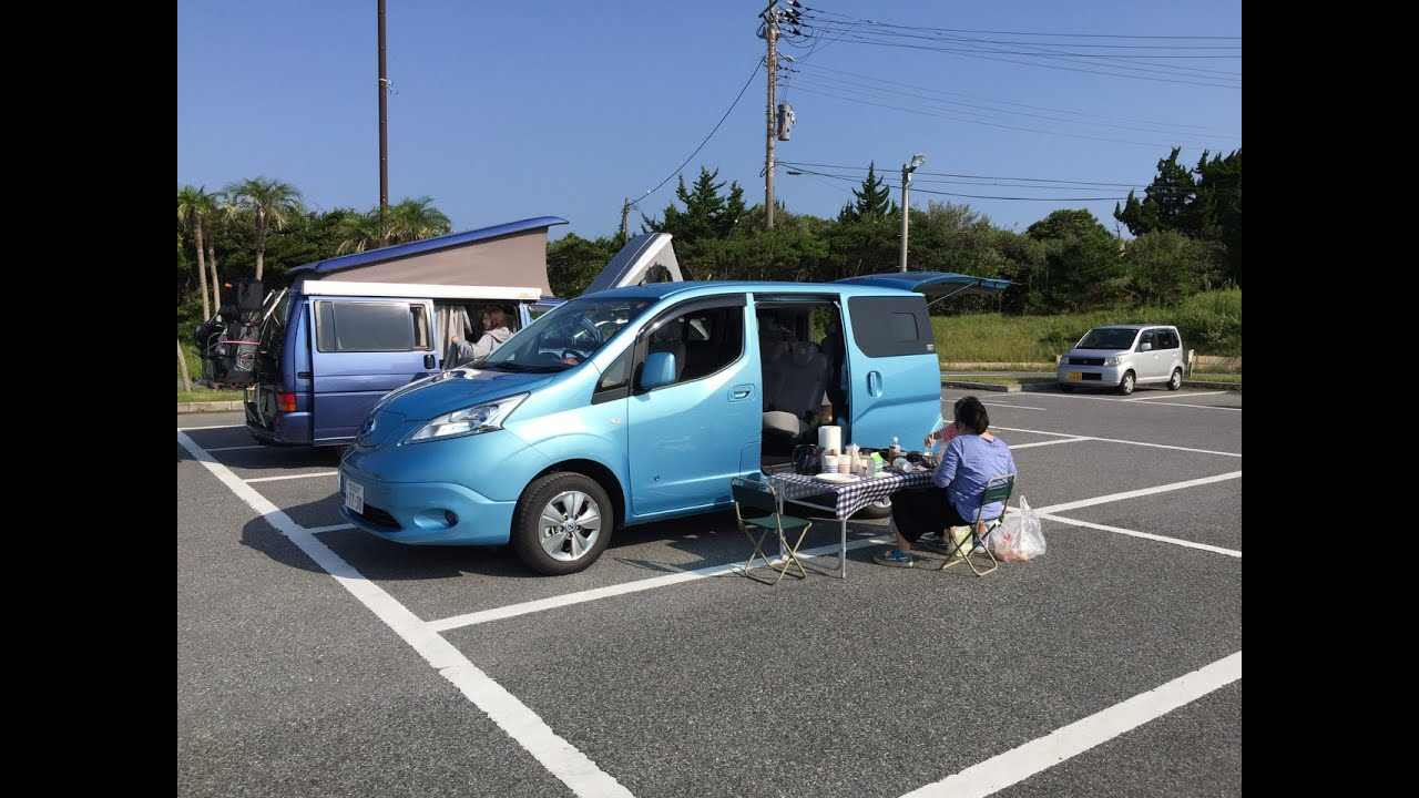 nissan e nv200 trial camping trip to the coast of chiba. Black Bedroom Furniture Sets. Home Design Ideas