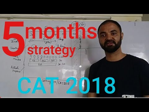 5 months to CAT 2018. Strategy planning. target 99%ile
