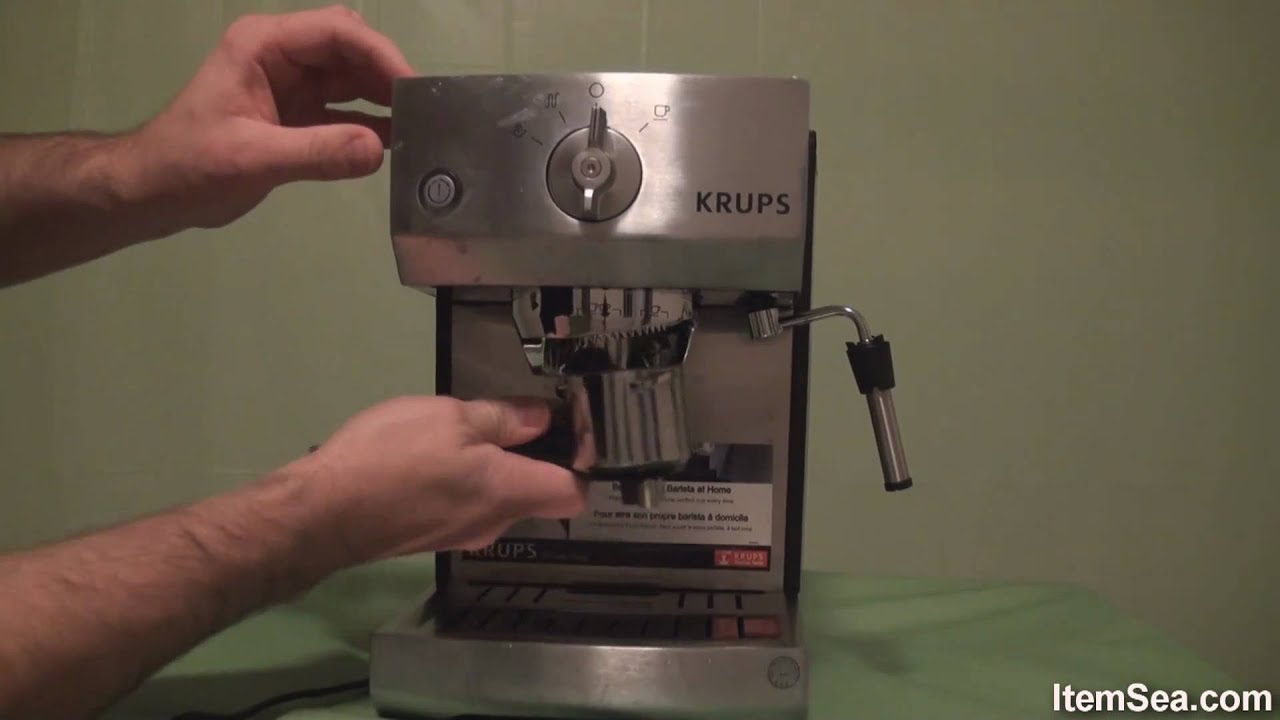 Krups Coffee Maker Xp4020 Manual : Krups XP5240 Pump Espresso Machine with Precise Tamp System (ItemSea) - YouTube