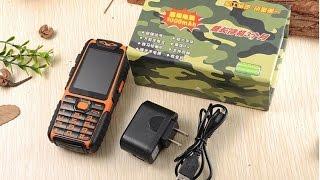 зА 22 Водонепроницаемый Телефон A6 Power Bank Противоударный Громкий Мощный Фонарик