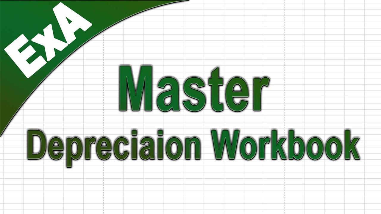 SLN Depreciation Workbook - Master Schedule - Excel (Free Download ...