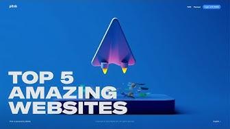 TOP 5 WEBSITES EVERY WEB DESIGNER SHOULD VISIT: Mind-blowing web design | March 2020