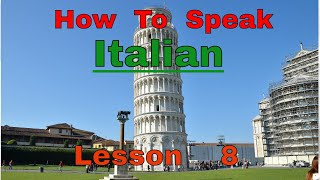 How To Speak Italian Lesson 8. No Background Sounds