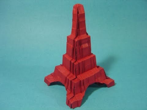 origami eiffel tower robin glynn youtube
