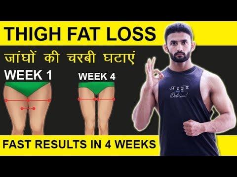 THIGH FAT LOSS | जांघों की चरबी घटाएं | IN 4 WEEKS FAST| Hindi\Urdu