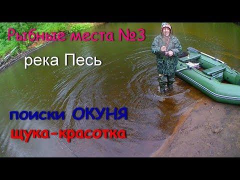 Раскрываем Рыбные места №3 река Песь 2019.