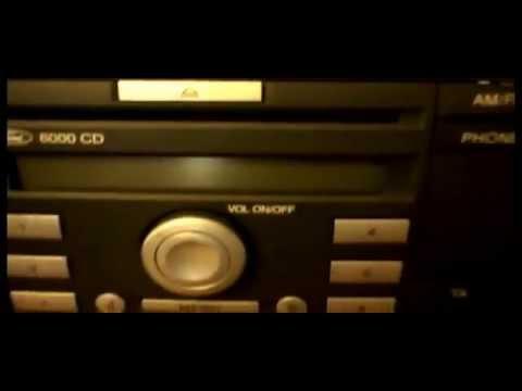 FORD 6000 CD CAR STEREO RADIO CD PLAYER FIESTA,FOCUS,MONDEO,TRANSIT,C MAX,S MAX