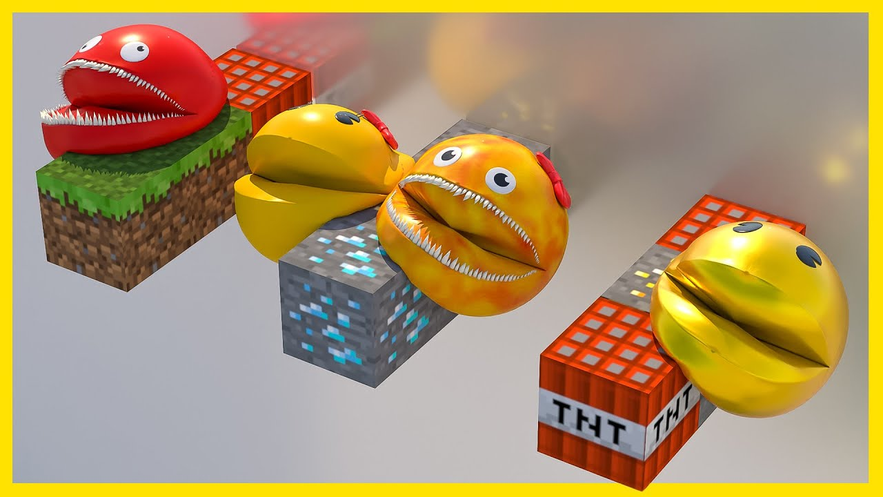 ➤ Pacman vs Ms. Pacman and Evil Pacmanes  [Softbody race]