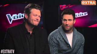 adam levine and blake shelton gush about their gorgeous wives