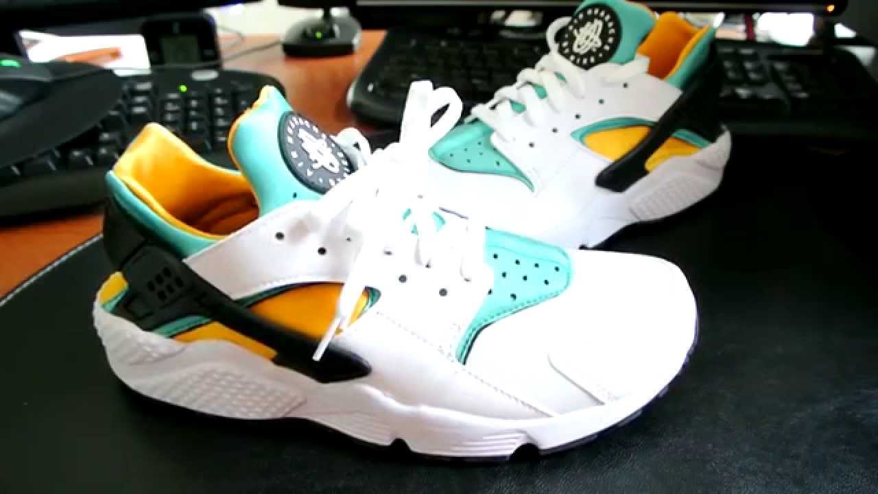 reputable site ed399 94412 ... promo code for nike air huarache turquoise and gold youtube 217c1 80766
