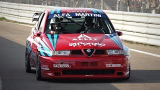 400HP Alfa Romeo 155 GTA TURBO with Dog Box Transmission @ Track! - Onboard & Turbo Sounds!