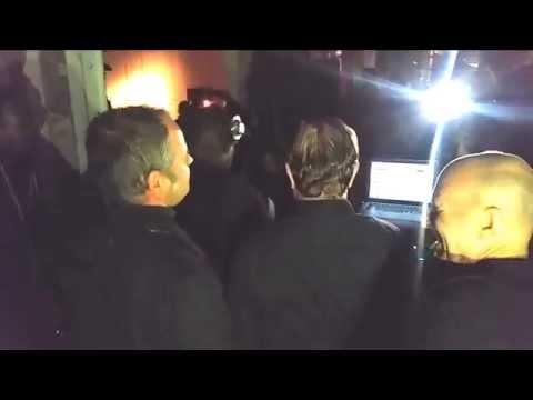 Kraftwerk watching Kevin Saunderson at MOCAD afterparty Oct. 5 2015