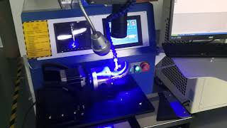 Tube and flange welding by a 4 axis laser welding machine for Dr  Daryoosh